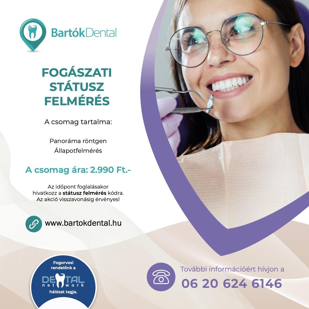 Bartók Dental Fogászat - Státusz felmérés akció